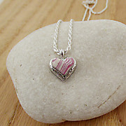 Recently Completed Pink Open Floral Edge Heart