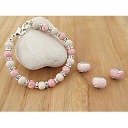 Recently Completed Pink Dainty Bling Bracelet and Bloombeads