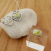 Recently Completed Filigree Heart Locket and Bloombead